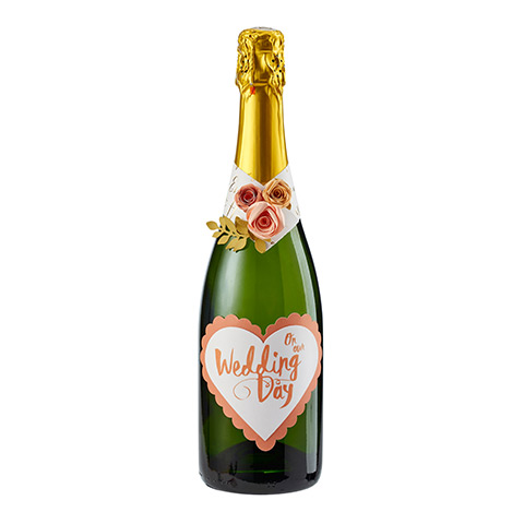 Embellished Champagne Bottle