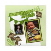 Monkey Around Scrapbook Page