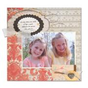 Smiles Lift Spirits Scrapbook Page