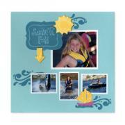Embossed Summer Fun Scrapbook Page