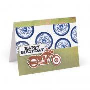 Happy Birthday Motorcycle Card