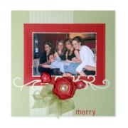 Merry Family Scrapbook Page
