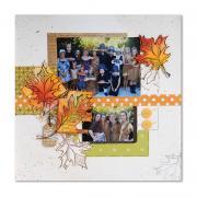 Thanksgiving Memories Scrapbook Page