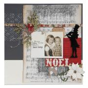 Christmas Carol Memories Scrapbook Page