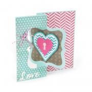 Heart Lock Flip-its Card
