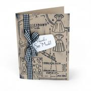 Retro Sewing Pattern Card