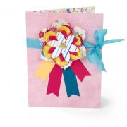 Layered Flowers & Ribbons Card