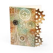 Embossed Gears Card