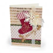 Be Merry Stocking Card #2