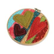 Felt Hearts Embroidery Hoop