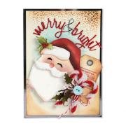 Merry & Bright Santa Card