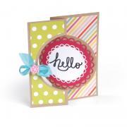 Hello Circle Flip-its Card