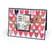 Hello Friend Hearts Card
