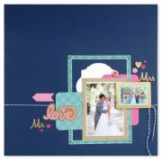 Mr. & Mrs. Scrapbook Page