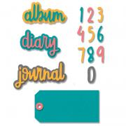 Sizzix Thinlits Die Set 9PK - Journal Phrases