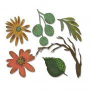 Sizzix Thinlits Die Set 6PK - Funky Floral, Large