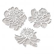 Sizzix Thinlits Die Set 3PK - Cutout Blossoms