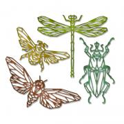 Sizzix Thinlits Die Set 4PK - Geo Insects