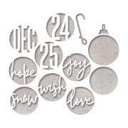 Sizzix Thinlits Die Set 12PK – Circle Words, Christmas