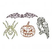Sizzix Thinlits Die Set 4PK - Geo Halloween