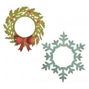 Sizzix Thinlits Die Set 5PK – Wreath & Snowflake