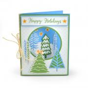 Sizzix Framelits Die Set 9PK w/Stamps - Winter Trees