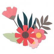 Sizzix Thinlits Die Set 9PK - Free Style Florals