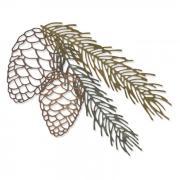 Sizzix Thinlits Die Set 4PK - Pine Branch by Tim Holtz