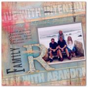 Monogram R Family Scrapbook Page