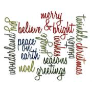 Sizzix Thinlits Die Set 17PK - Holiday Words: Script