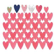 Sizzix Thinlits Die Set 7PK - Card Front, Hearts w/Layering Shapes