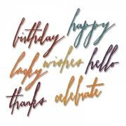 Thinlits Die Set 7PK - Handwritten Celebrate