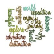 Sizzix Thinlits Die Set 13PK - Adventure Words: Script