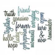 Thinlits Die Set 16PK - Friendship Words: Script