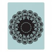 Texture Fades Embossing Folder - Doily