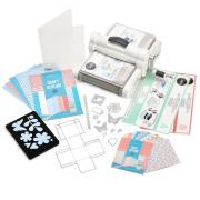 Sizzix Big Shot Plus Starter Kit (White & Gray) with Craft Asylum Cardstock