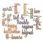 Thinlits Die Set 18PK - Halloween Words: Script