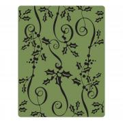 Sizzix Texture Fades Embossing Folder - Holly Ribbon by Tim Holtz