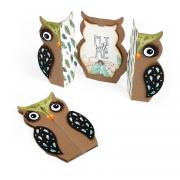 Sizzix Thinlits Die Set 6PK - Card, Owl Label Fold-a-Long