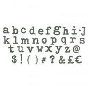 Sizzix Bigz XL Alphabet Die - Typo Lower