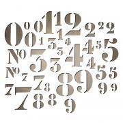 Sizzix Thinlits Die Set 38PK - Stencil Numbers