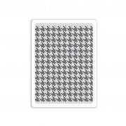 Sizzix Texture Fades Embossing Folder - Houndstooth
