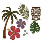 Sizzix Thinlits Die Set 8PK - Tropical
