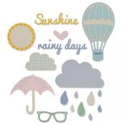 Sizzix Thinlits Die Set 15PK - Rainy Days & Sunshine