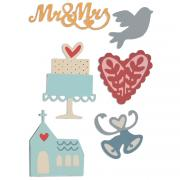 Sizzix Thinlits Die Set 6PK - Wedding