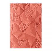 Sizzix 3-D Textured Impressions Embossing Folder - Jumbled Triangles