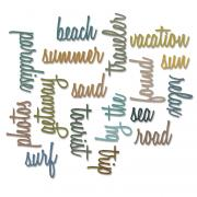 Sizzix Thinlits Die Set 18PK - Vacation Words: Script