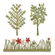 Sizzix Thinlits Die Set 3PK - Green Garden