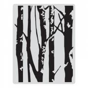 Sizzix Texture Fades Embossing Folder - Birch Trees