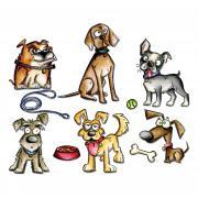 Sizzix Framelits Die Set 23PK - Crazy Dogs by Tim Holtz
